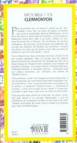 Deux mille & un Clermontois - 4ème de couverture - Format classique