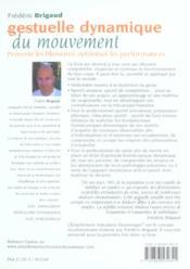 Gestuelle dynamique du mouvement - 4ème de couverture - Format classique