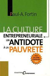 La culture entrepreneuriale ; un antidote à la pauvreté - Intérieur - Format classique