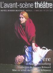 Revue L'Avant-Scene Theatre N.1779 ; Père - Intérieur - Format classique