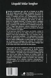 Léopold Sédar Senghor ; l'émotion et la raison - 4ème de couverture - Format classique