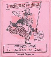 Fric-frac du sens ; Edward Lear, les délires de Lear - Couverture - Format classique