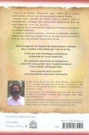 Le chemin de l'initiation christique - 4ème de couverture - Format classique