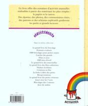 Le Grand Livre Du Bricolage.. 2. Papier-Carton - 4ème de couverture - Format classique