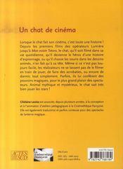 Un Chat De Cinema - 4ème de couverture - Format classique