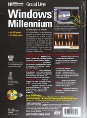 Grand Livre Windows Millenium - 4ème de couverture - Format classique