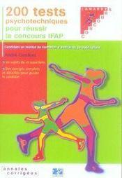 200 tests psychotechniques pour réussir le concours ifap - Intérieur - Format classique