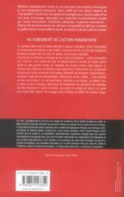 Au Fondement De L'Action Humanitaire - 4ème de couverture - Format classique
