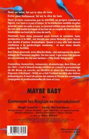 Maybe Baby - 4ème de couverture - Format classique