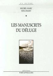 Les Manuscrits Du Deluge - Couverture - Format classique
