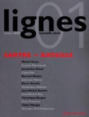 Revue Lignes ; Sartre - Bataille - Couverture - Format classique