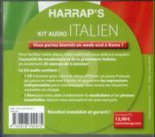 Kit Audio Harrap'S ; Italien ; Débutez L'Italien En 20 Séances De 5 Mn - 4ème de couverture - Format classique