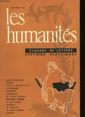Les Humanites N°350 - Classes De Lettres - Sections Classiques - Couverture - Format classique