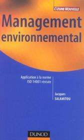 Vente livre :  Management environnemental - application a la norme iso 14001 revisee  - Salamitou - Salamitou Jacques