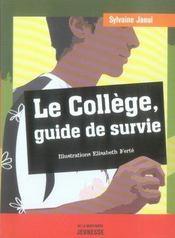 Le collège, guide de survie - Intérieur - Format classique