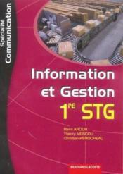 Stg ; Information Et Gestion ; Specialite Communication - Couverture - Format classique