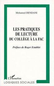 Les pratiques de lecture du collège à la fac - Couverture - Format classique