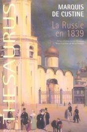 La Russie En 1839 - Intérieur - Format classique