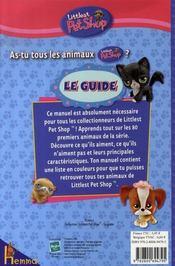 Le guide littlest petshop - 4ème de couverture - Format classique
