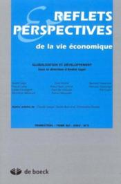 Reflets Et Perspectives De La Vie Economiques 2002/2 Globalisation Et Developpement - Couverture - Format classique