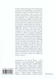 La Medecine Des Lumieres , Tout Autour De Tissot - 4ème de couverture - Format classique