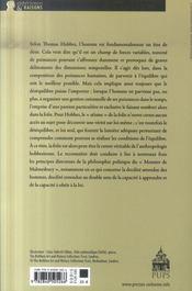 Hobbes et le désir des fous ; rationalité, prévision et politique - 4ème de couverture - Format classique