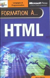 Formation A Html  - Morris