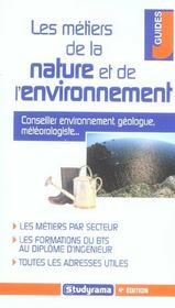 Les metiers de la nature et de l'environnement - Intérieur - Format classique