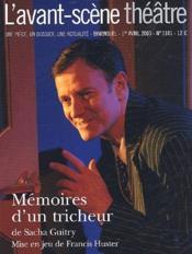 Revue L'Avant-Scene Theatre N.1181 ; Mémoires D'Un Tricheur - Couverture - Format classique