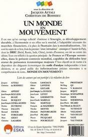 Un Monde En Mouvement ; Enjeux Et Defis - 4ème de couverture - Format classique