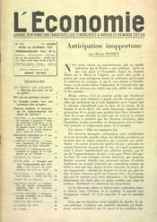 Economie (L') N°511 du 20/10/1955 - Couverture - Format classique