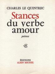 Stances du verbe amour. - Couverture - Format classique