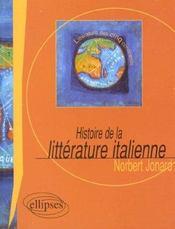 Histoire De La Litterature Italienne - Intérieur - Format classique