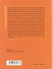 Histoire De La Litterature Italienne - 4ème de couverture - Format classique
