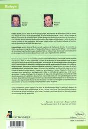 Bioinformatique Genomique Et Post Genomique - 4ème de couverture - Format classique