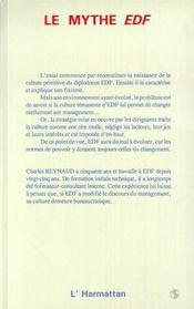 Le Mythe Edf ; Naissance Et Resistance D'Une Bureaucratie - 4ème de couverture - Format classique