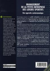 Management des petites entreprises des loisirs sportifs ; une approche socioéconomique - 4ème de couverture - Format classique