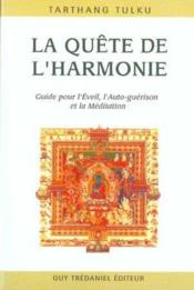 La Quete De L'Harmonie - Couverture - Format classique
