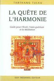 La Quete De L'Harmonie - Intérieur - Format classique
