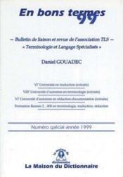En Bons Termes 1999 - Couverture - Format classique