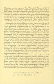 Le jardin d'éros et autres poèmes d'oscar wilde - 4ème de couverture - Format classique