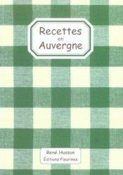 Recettes En Auvergne - Intérieur - Format classique