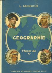 GEOGRAPHIE. CLASSE DE 5e. LE MONDE (MOINS L'EUROPE ET L'ASIE RUSSE) - Couverture - Format classique