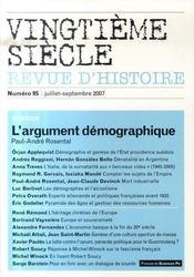 L'argument démographique (édition juillet-septembre 2007) - Intérieur - Format classique