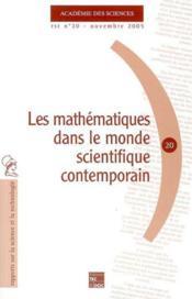 Rst n.20 ; les mathematiques dans le monde scientifique contemporain - Couverture - Format classique