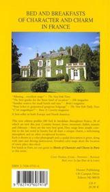 Guide des maisons d'hotes de charme en france 2001 - 4ème de couverture - Format classique