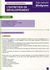 L'entretien de développement - Intérieur - Format classique