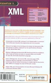 Formation a xml - 4ème de couverture - Format classique