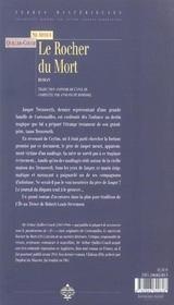 Rocher Du Mort - 4ème de couverture - Format classique