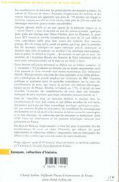Les Tremblements De Terre Aux Xviie Et Xviiie Siecles - 4ème de couverture - Format classique